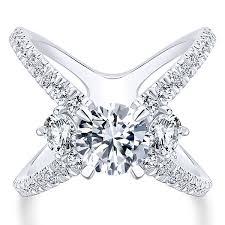 white stones rings images Three stone diamond rings 3 stones engagement rings gabriel co jpg