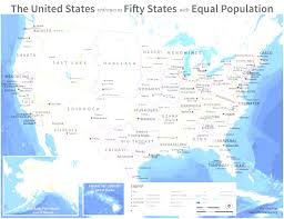 Map If Usa by If Every U S State Had The Same Population What Would Map Of Cool