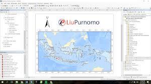 isi layout peta cara memutar arah utara dalam layout peta arcgis liu purnomo