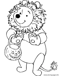 winnie pooh lion disney halloween coloring pages printable