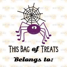 spider loot bag svg halloween bag svg halloween candy svg