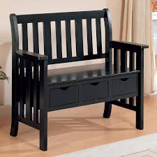 shop coaster fine furniture black indoor entryway bench with