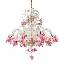 Chandelier Pink Delizia Pink Flowers Murano Glass Chandelier Murano Glass