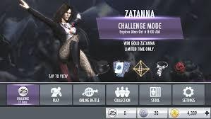 Challenge Do U Tie It Injustice Mobile Zatanna Challenge Injustice Gods Among Us