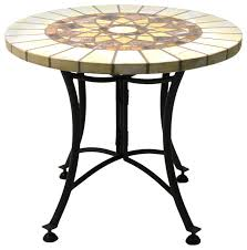 Mosaic Dining Room Table Marble Mosaic Accent Table With Metal Base Southwestern Table