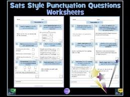 key stage 2 english sats style punctuation questions worksheets by