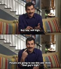 Modern Family Memes - phil dunphy buys low sells high on modern family