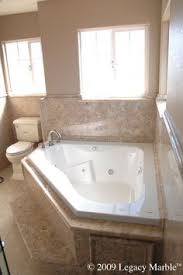 Corner Tub Bathroom Ideas Colors Master Bath With Granite Countertops Stand Up Shower With A Shelf