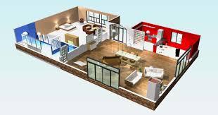 Plan De Maison En Longueur Plan 3d Maison Moderne