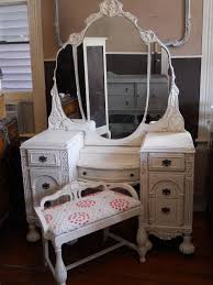 vintage vanity table with mirror and bench vintage vanity triple mirror and bench home pinterest vintage
