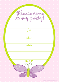 free printable birthday invitations butterfly birthday ideas