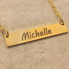 Personalized Bar Necklace Custom Necklaces Personalized Bracelets Custom Necklace