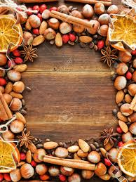 Christmas Nuts Christmas Background Made Of Nuts Dried Oranges And Spices