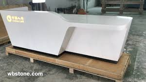 Led Reception Desk 1080p Solid Surface Artificial Marble Reception Desk With Led
