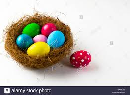 pink easter eggs multicolored easter eggs in a nest and pink easter egg with abstract