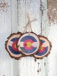 colorado flag ornaments set of 3 representing the great state of
