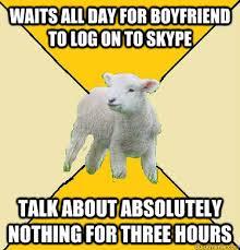 Long Distance Relationship Meme - long distance relationship lamb memes quickmeme