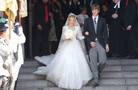 prince ernst august of hanover walks the aisle with bride daily