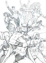 justice league 2010 sketch by guinnessyde on deviantart
