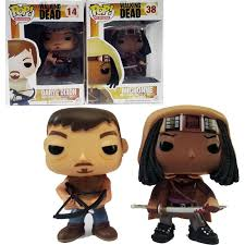funko pop the walking dead michonne television version vinyl