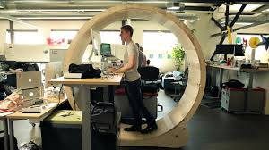 Sit To Stand Desk by Hamster Wheel Standing Desk Youtube
