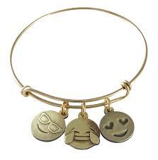 amazon com emoji charm bracelet live laugh love antique