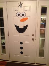 Front Doors Decorated For Christmas by Frozen Birthday Party Olaf Front Door Decoration Diy