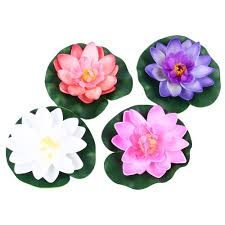 Floating Flowers Online Shop Artificial Fake Lotus Flowers Water Lily Blooming