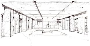 Interior House Drawing Small Sketch2 Png