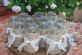 jar table decorations wedding table centerpieces using jars wedding dress