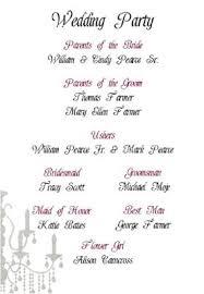 exles of wedding program wording wedding program etiquette 28 images program etiquette