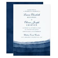 wedding invitations blue indigo blue watercolor wedding invitations zazzle