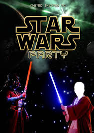 star wars birthday party invitations template invitations templates