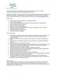 Receptionist Skills For Resume Receptionist Job Description Resume Best Business Template