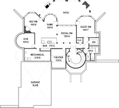 Basement Floor Plans With Bar Hennessey Luxury Home Blueprints Spacious House Plans