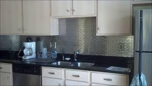 metallic kitchen backsplash kitchen glass and metal backsplash tile stainless steel subway