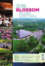 Blossom Music Center Map 2016 Blossom Music Festival Aug 13 20 27 Sept 3 4 Concerts By