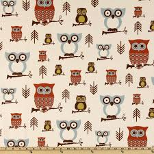 Owl Drapes Screen Printed On Natural Cotton Duck This Versatile Medium