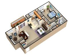 25 more 3 bedroom 3d floor plans dimensional house small three