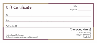 free printable gift certificate template business plan template