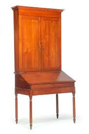Black Secretary Desk With Hutch by Solid Pine Habersham Plantation Slant Front Secretary Desk Hutch