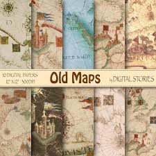 Old Map Background Vintage Maps Digital Paper Old Maps With World