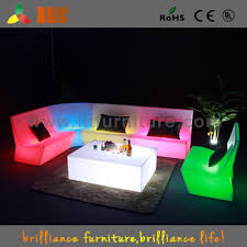 Led Outdoor Furniture - luminous plastic modern led table garden side tables outdoor
