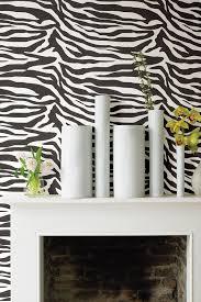 zebbie white zebra print wallpaper by wallpops on hautelook