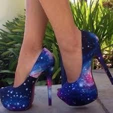 Light Blue High Heels Shoes Galaxy Heels High Heels Heels Blue High Heels Purple