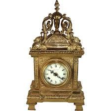 vintage italian imperial ornate solid brass mantle clock franz