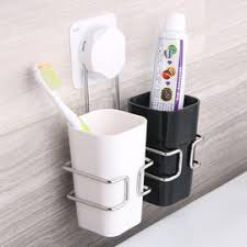 Suction Shelf Bathroom Kids Toothbrush Holder Suction Cup For Bathroom