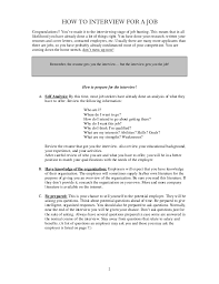 How Do You Do A Job Resume by How To Interview For A Job