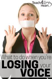 what to do when you u0027re losing your voice