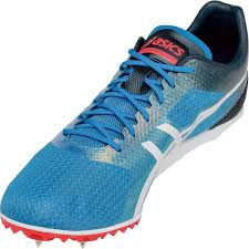 onlin comfortable asics mens cosmoracer md track and field shoes blue